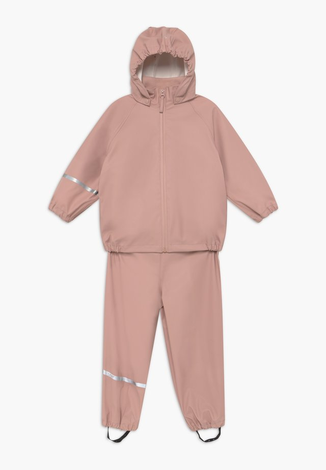 BASIC RAINWEAR SET UNISEX - Kurahousut - misty rose