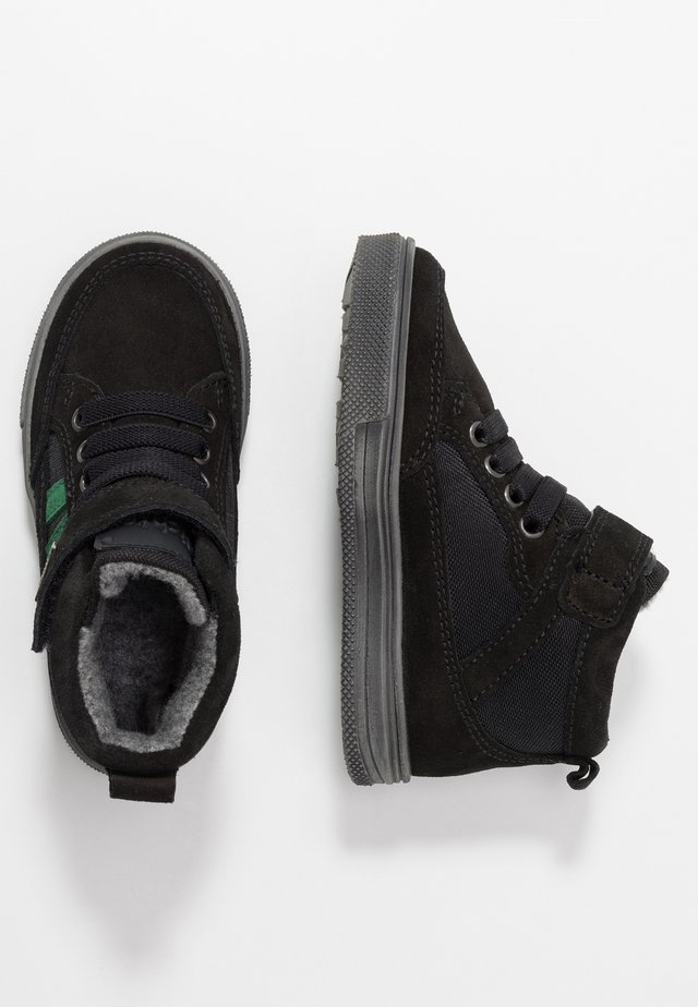 High-top trainers - black/turtle