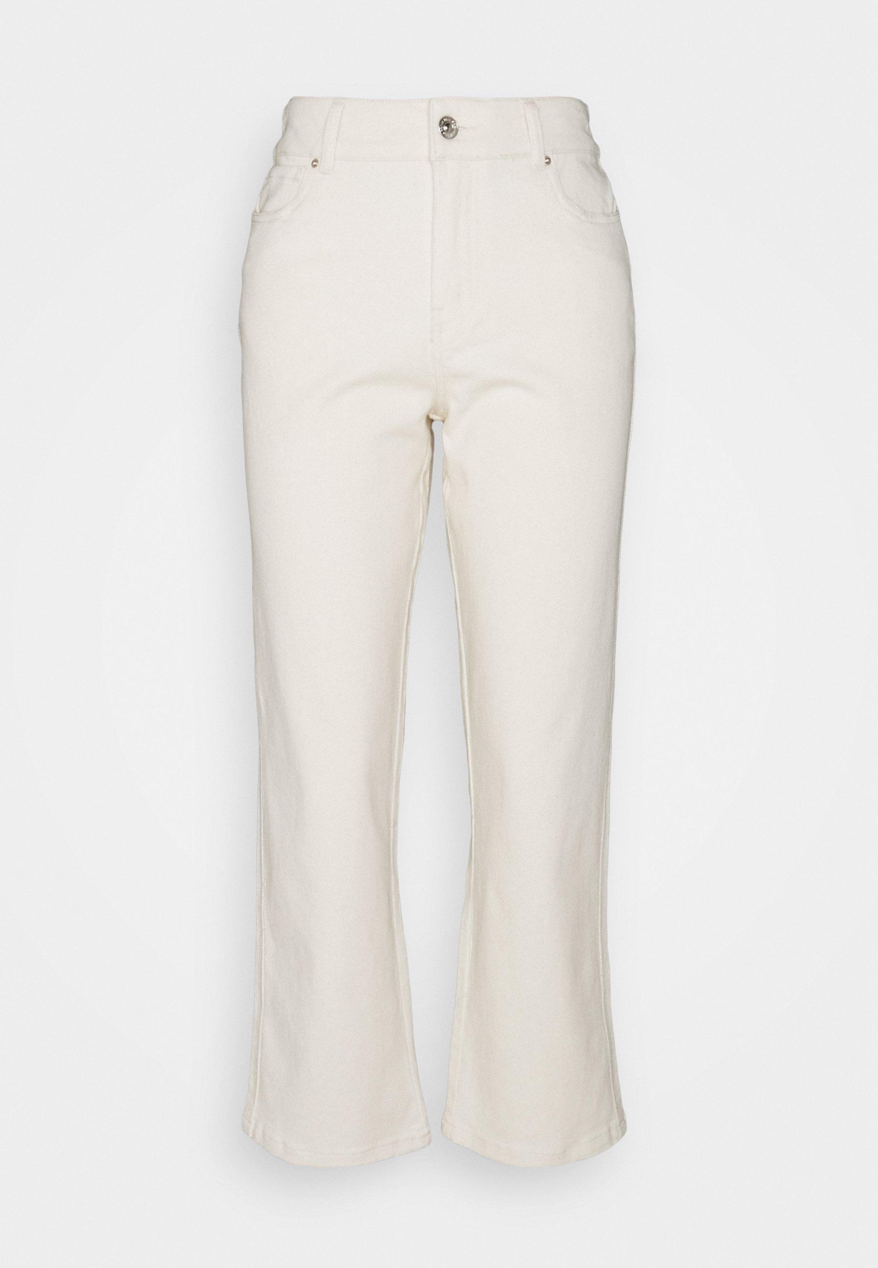 Women PCLANNIE MINI WIDE - Straight leg jeans