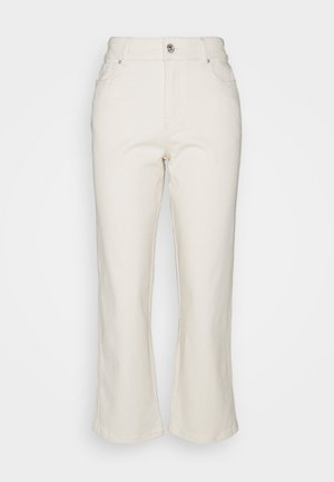 PCLANNIE MINI WIDE - Straight leg jeans - almond oil