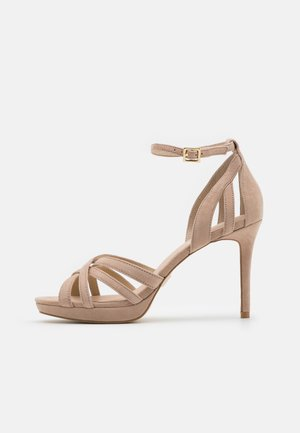 LEATHER - High heeled sandals - beige