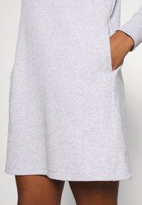 Tommy Jeans - BADGE MOCK NECK DRESS - Day dress - silver grey - 5