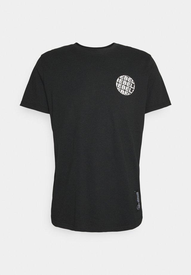 JACE TEE UNISEX - Camiseta estampada - black