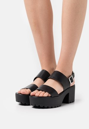 COLIEE - Platform sandals - black paris