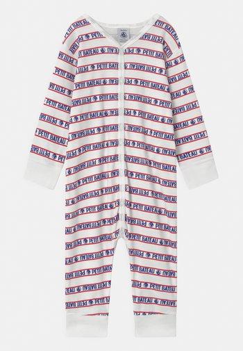 DORS BIEN SANS PIEDS - Pyjamas - white/blue/red