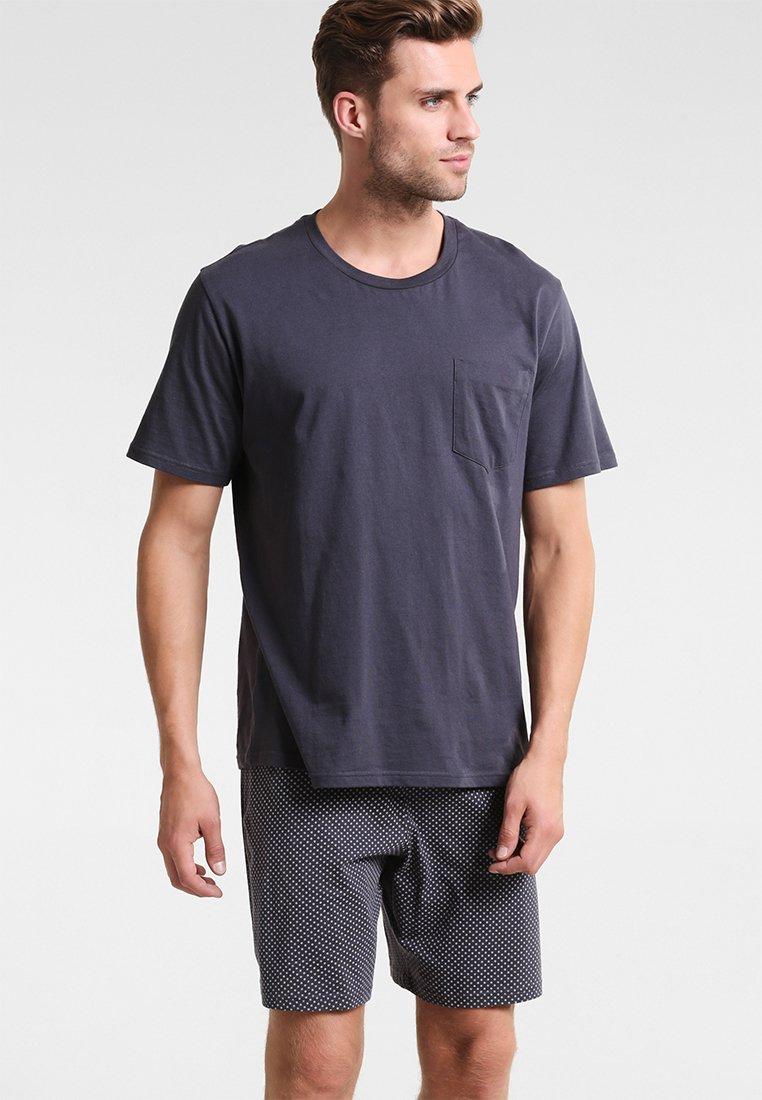 Schiesser - SET KURZ - Pyjama set - anthrazit