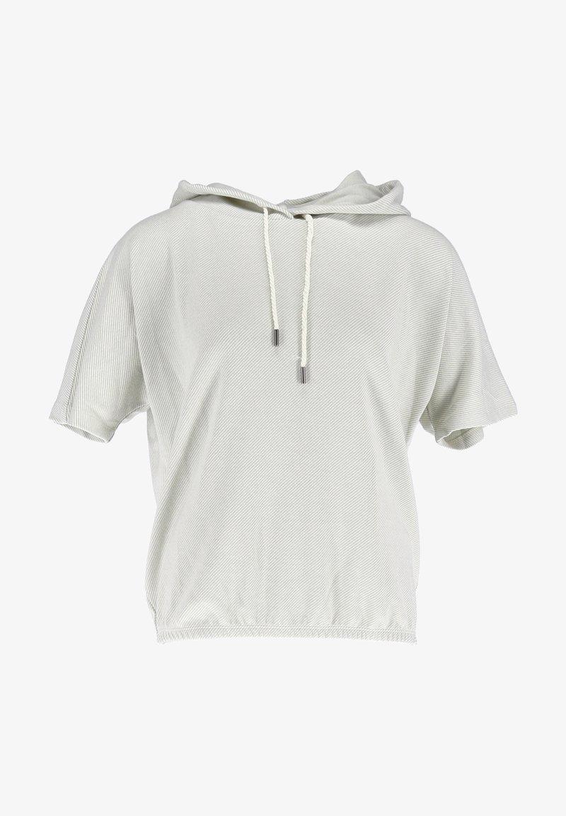 Opus - GULVAS - Print T-shirt - hell grün  weiß