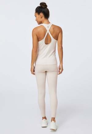 CROSSOVER BACK  - Top - beige