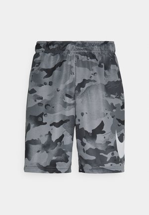 DRY SHORT CAMO - Sports shorts - black/grey fog