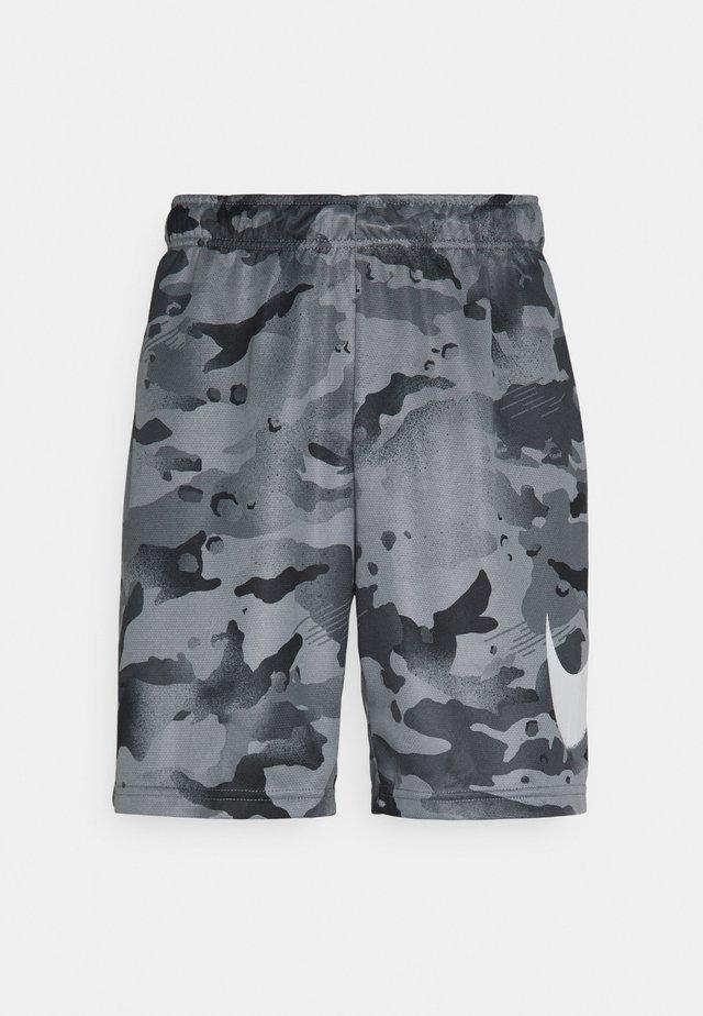 DRY SHORT CAMO - Short de sport - black/grey fog