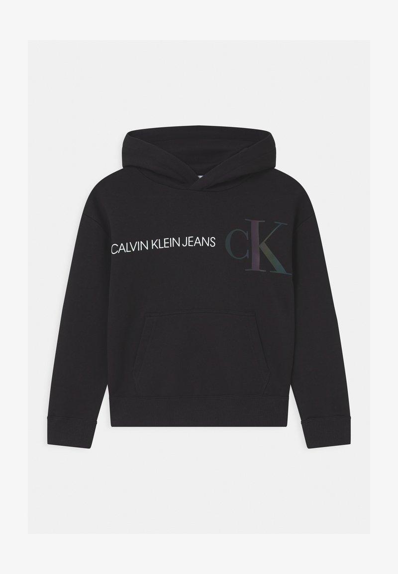 Calvin Klein Jeans - REFLECTIVE LOGO HOODIE - Hoodie - black