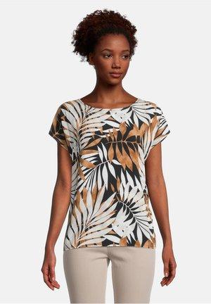 Print T-shirt - schwarz/braun