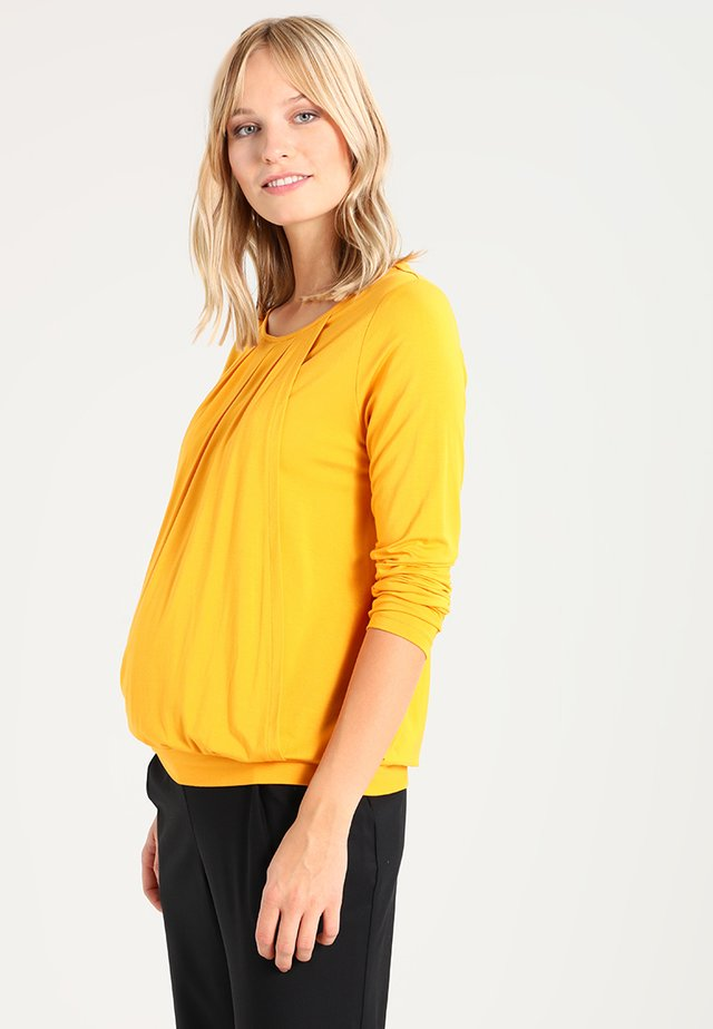 MATERNITY NURSING TOP - Long sleeved top - ochre