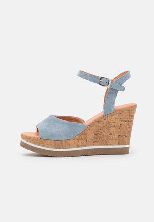 MARY - Sandály na vysokém podpatku - flint