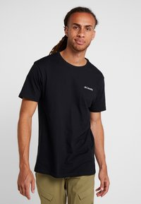 Columbia - NORTH CASCADES SHORT SLEEVE - Print T-shirt - black - 2