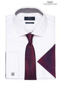 Next - SIGNATURE WEAVE SHIRT - Camicia elegante - white - 1