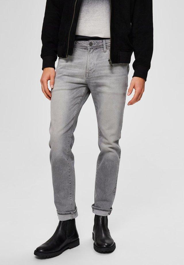 Slim fit jeans - light grey denim
