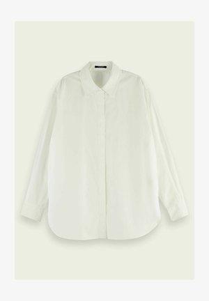 OVERSIZED - Button-down blouse - white