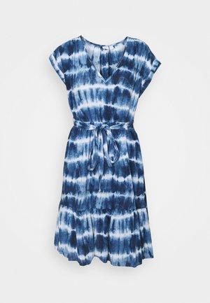 TIE WAIST DRESS - Day dress - navy
