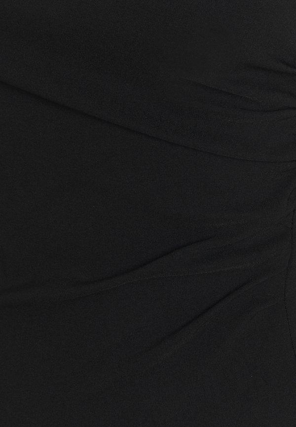 Topshop ONE SHOULDER BENGALINE - Bluzka z długim rękawem - black/czarny MFYZ