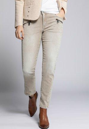 Jeans slim fit - creme