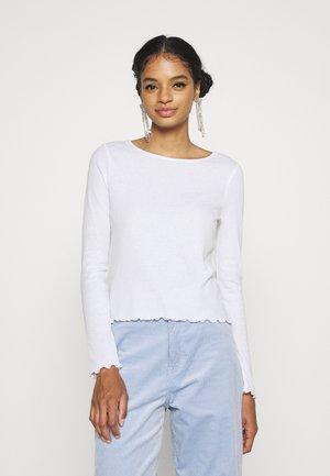 CREW NECK LONG SLEEVE - Long sleeved top - white