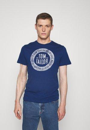 BASIC  - T-shirt z nadrukiem - after dark blue