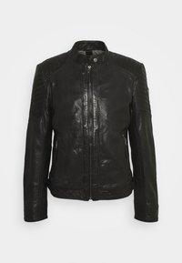 GMDAMION - Leather jacket - black