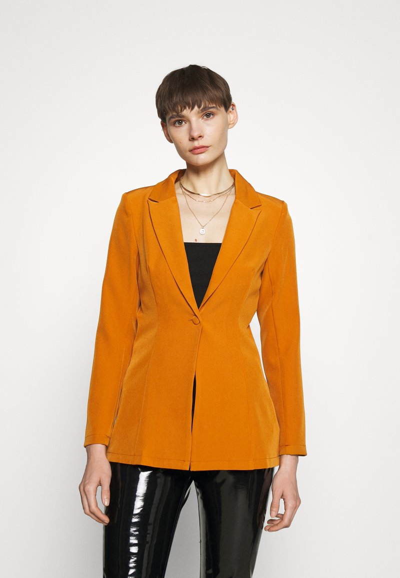 Missguided - SINGLE BREASTED - Short coat - mustard