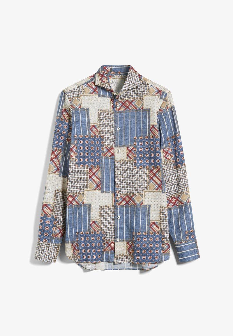 van Laack - RESO-TF - Shirt - blau-rot