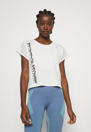 RUN - Print T-shirt - birch/graphite grey