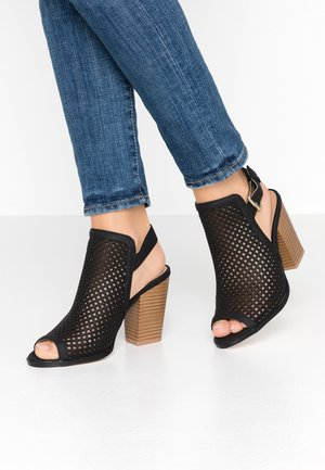 TRIAC VEGAN - High heeled sandals - black