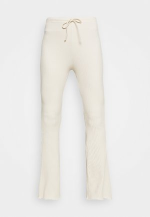 WIDE LEG - Trousers - oat