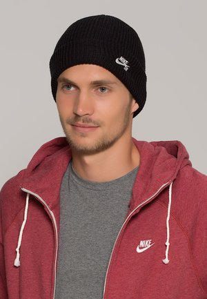 FISHERMAN - Beanie - black/white