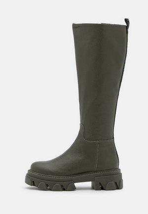 MANA - Platform boots - dark khaki
