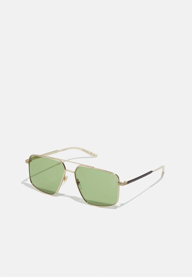 UNISEX - Sonnenbrille - gold-coloured/black/green