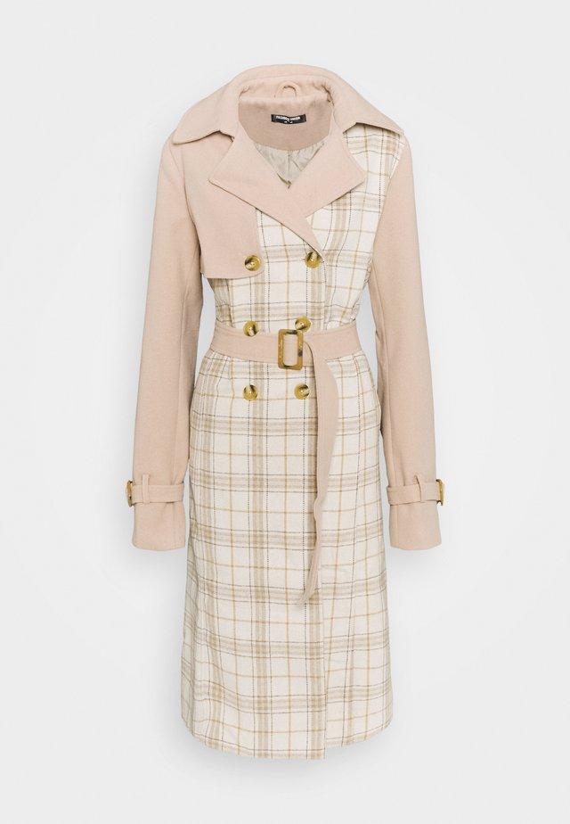 CHECK  - Classic coat - multicolor
