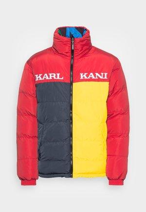 UNISEX RETRO REVERSIBLE BLOCK PUFFER JACKET RED - Winter jacket - red