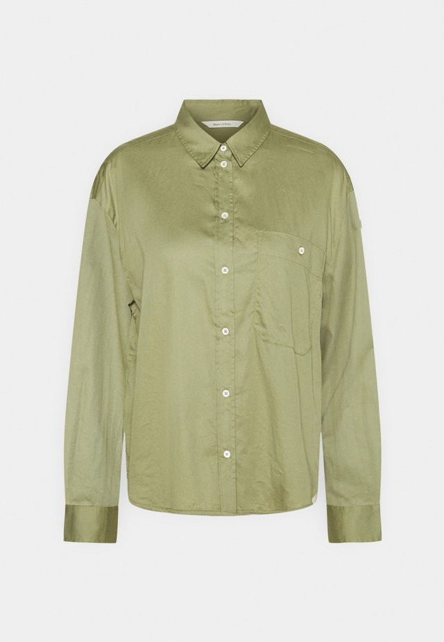 LONG SLEEVE - Button-down blouse - dried sage