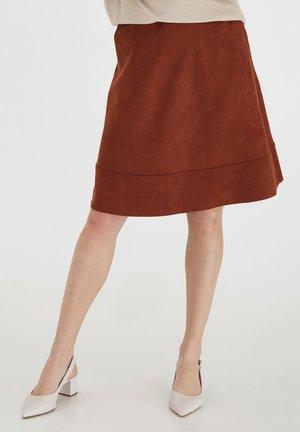 FRLASUEDE - A-line skirt - burnt henna
