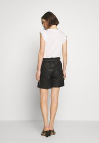 Culture - ALINA - Leather trousers - black - 2