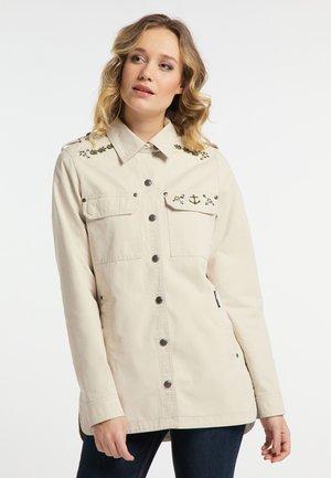Denim jacket - creme
