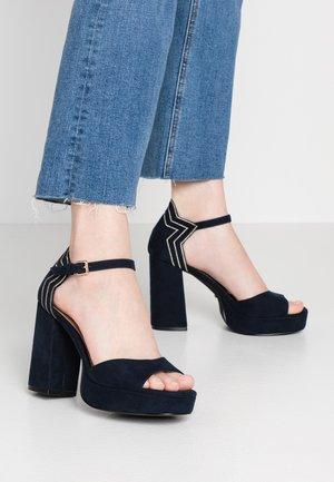 ONLAERIN CAP - High heeled sandals - dark blue