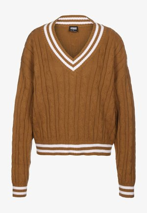 Jumper - toffee/wht