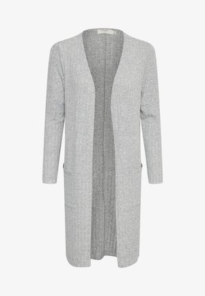 MANDY CARDIGAN - Cardigan - light grey melange