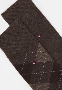 Tommy Hilfiger - MEN SOCK CHECK 2 PACK - Ponožky - oak - 1