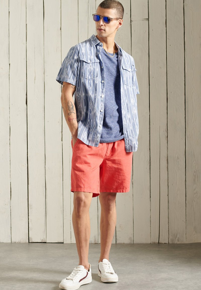 Superdry - VINTAGE  - T-Shirt basic - tidal blue spacedye