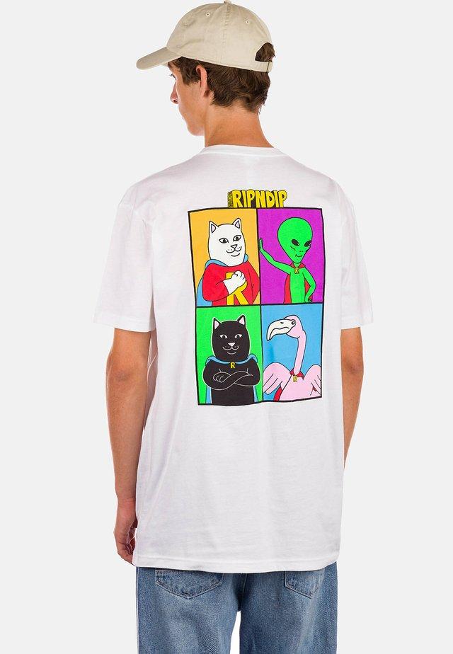WE CAN BE HERO'S - Print T-shirt - white