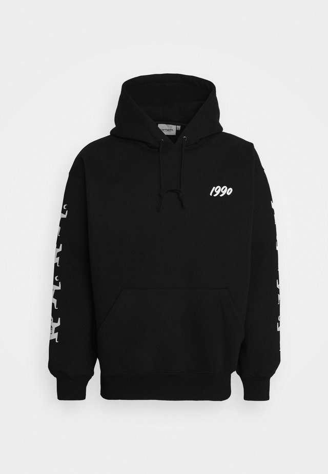HOODED NINJA TUNE - Sweatshirt - black/white