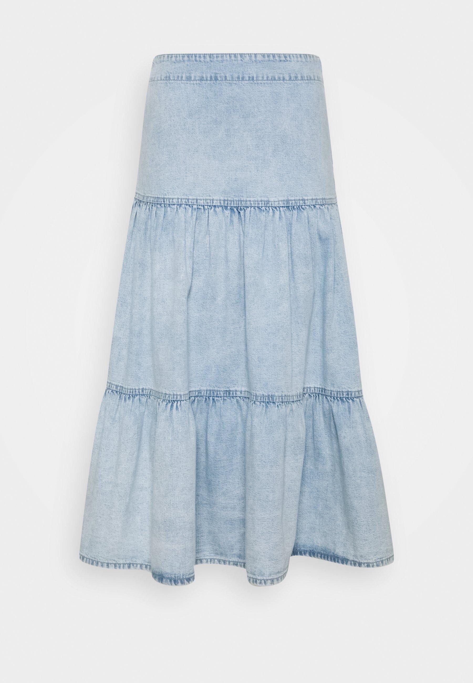 Women FLOUNCE SKIRT - Denim skirt